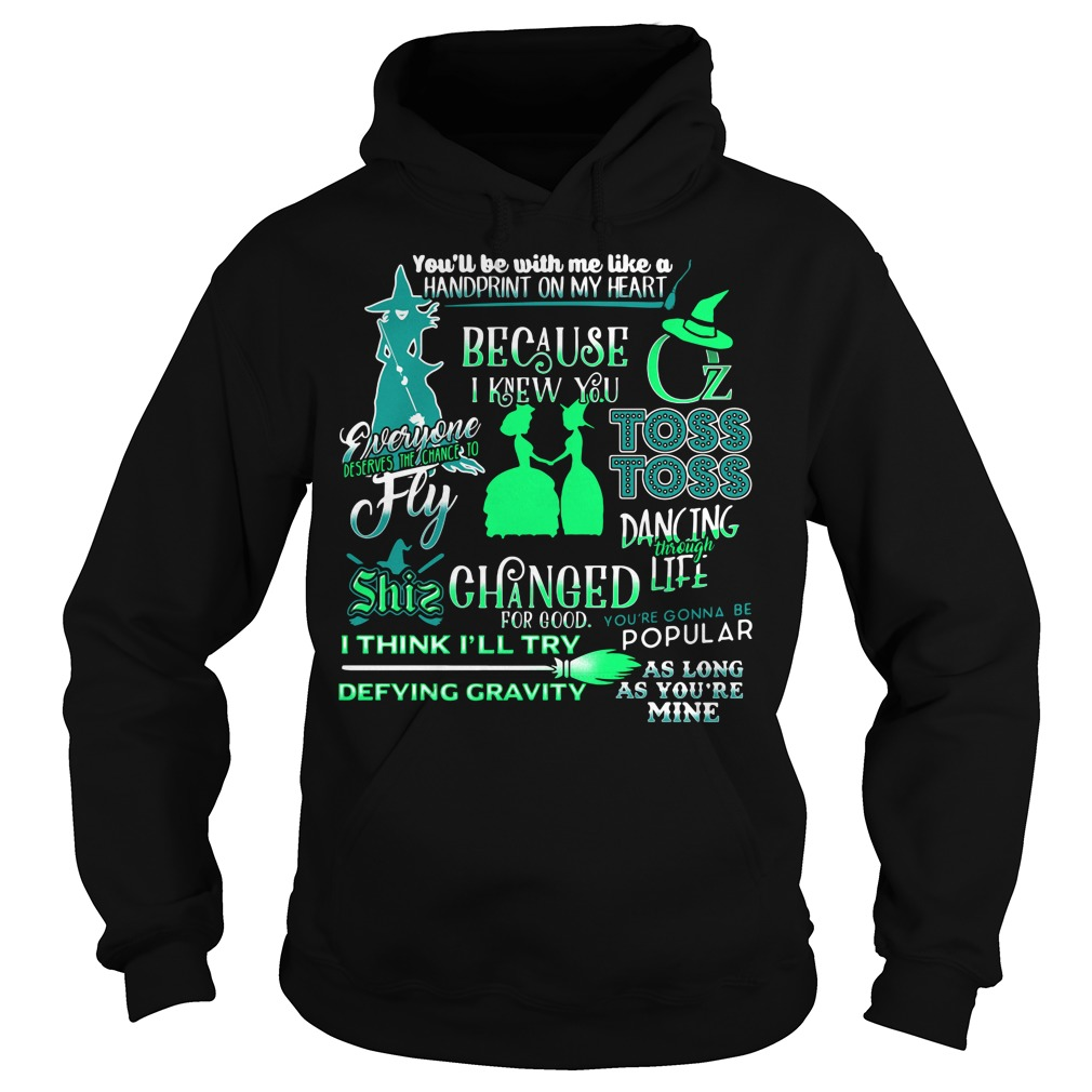 Halloween you'll be with me like a handprint on my heart Hoodie