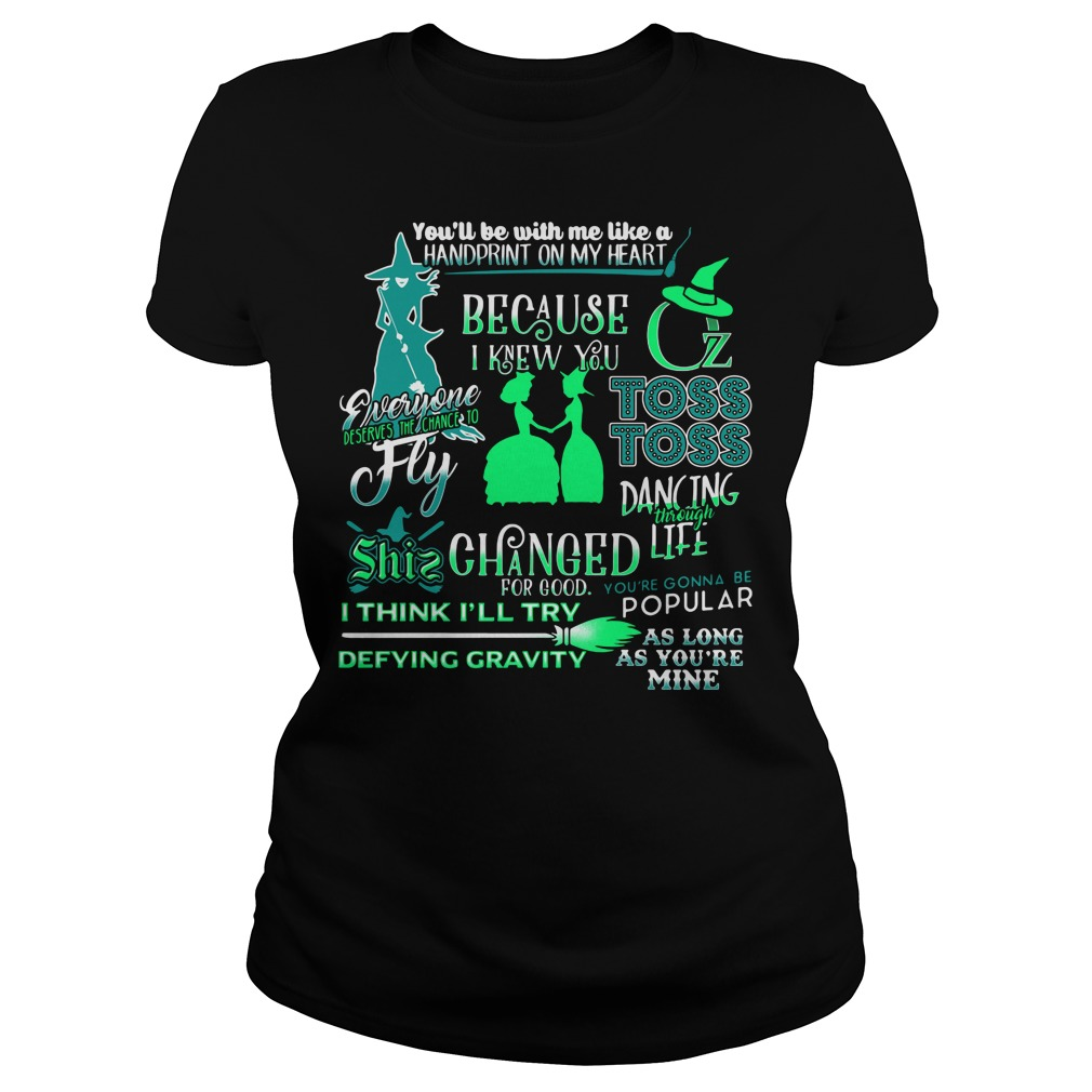 Halloween you'll be with me like a handprint on my heart Ladies tee