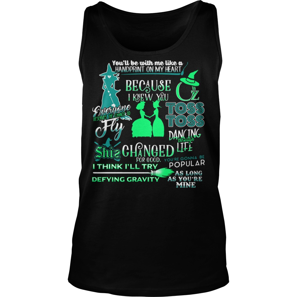 Halloween you'll be with me like a handprint on my heart Tank top