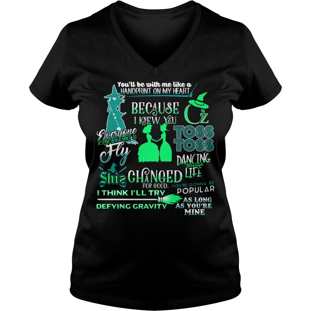 Halloween you'll be with me like a handprint on my heart V-neck T-shirt