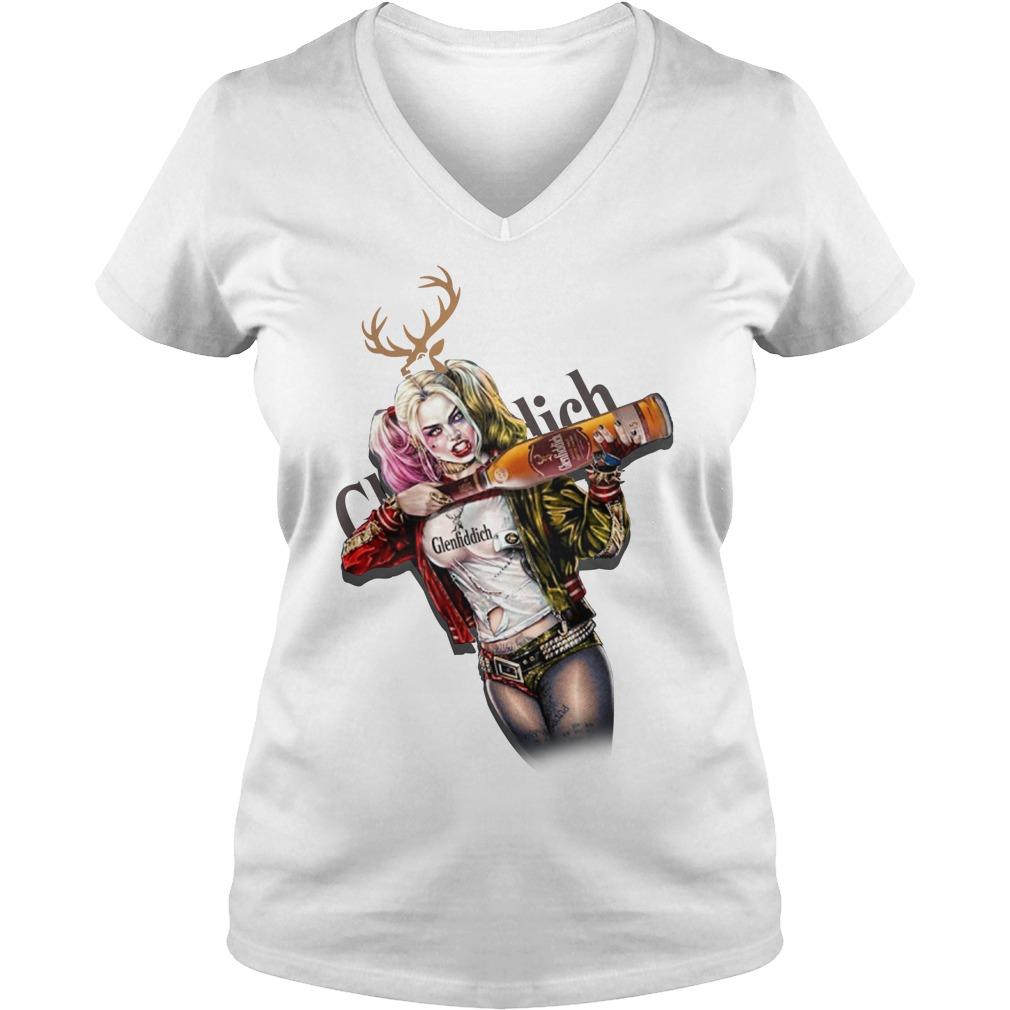 Harley Quinn Glenfiddich V-neck T-shirt