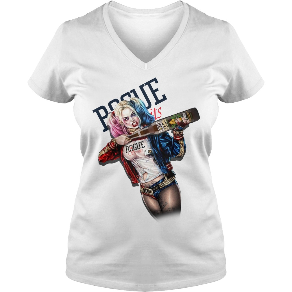 Harley Quinn Rogue Ales Spirits V-neck T-shirt