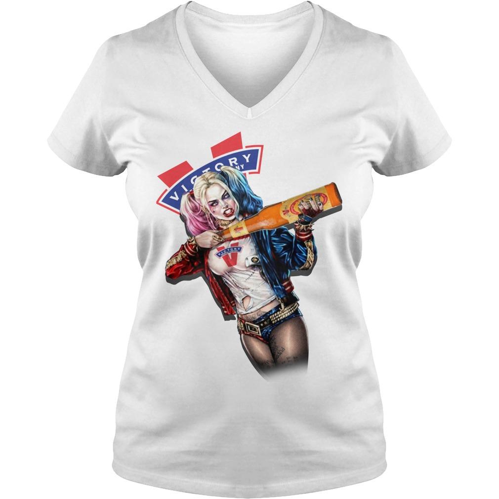 Harley Quinn Victory Brewing Company V-neck T-shirt