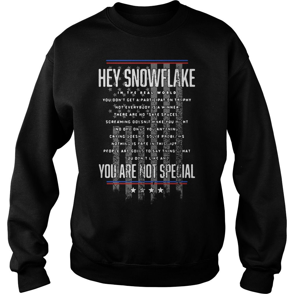 Hey snowflake in the real world you are not special Sweater
