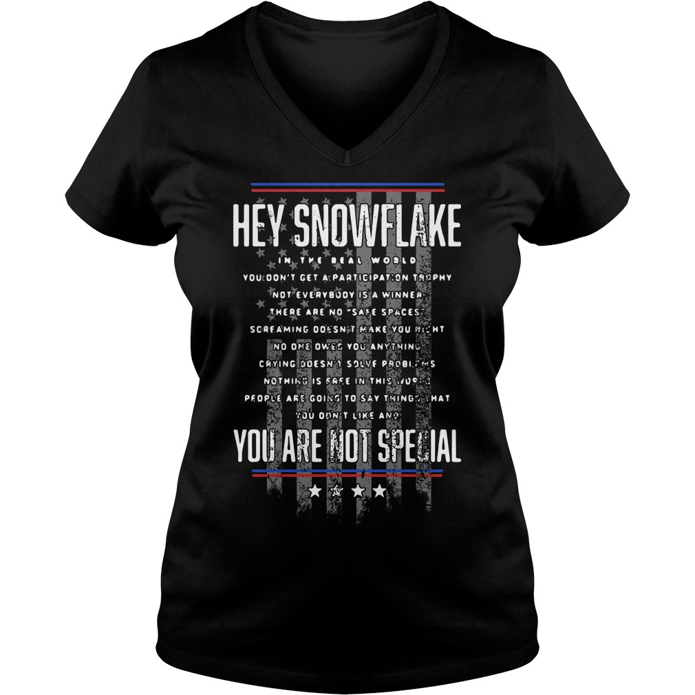 Hey snowflake in the real world you are not special V-neck T-shirt
