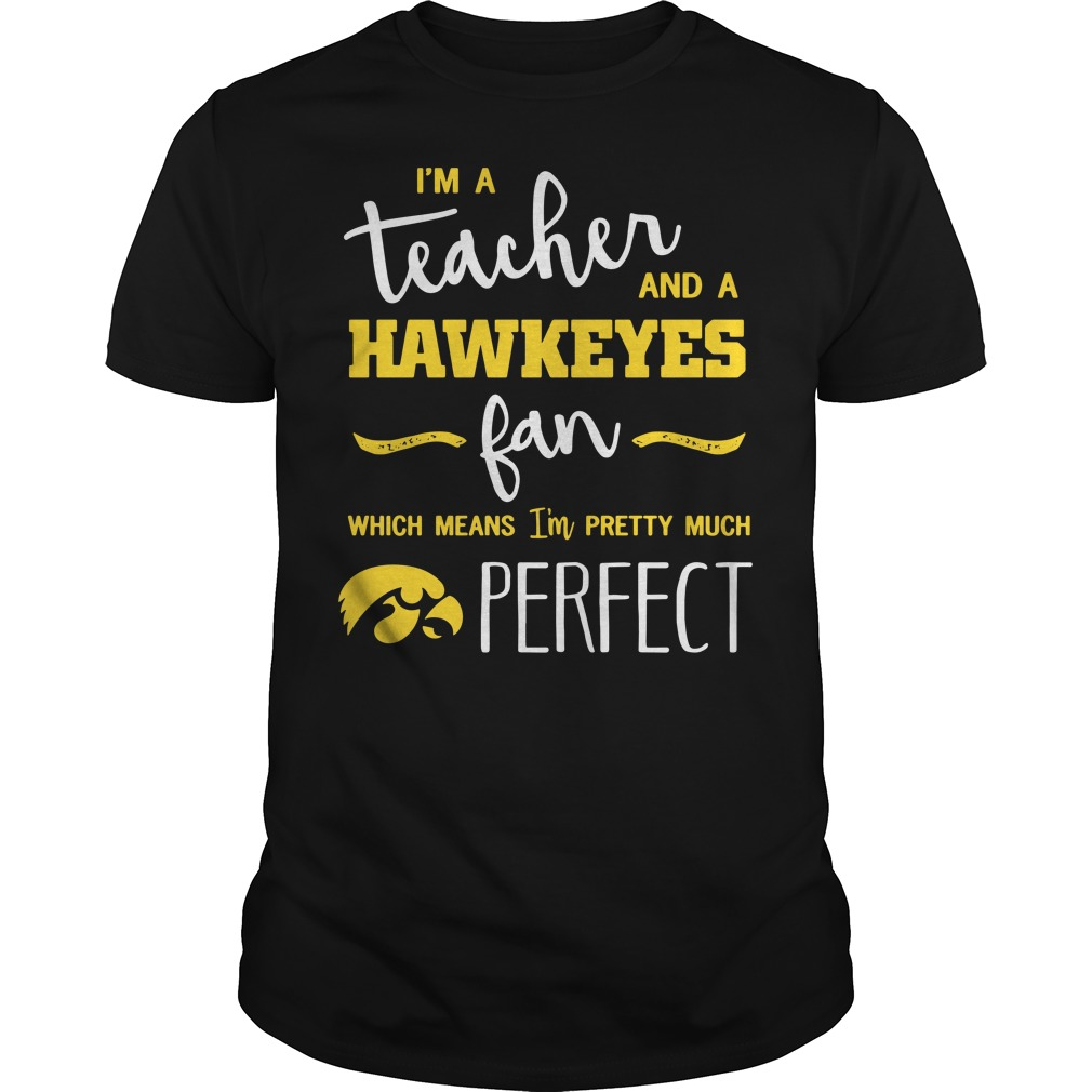 I'm a teacher and a Hawkeyes fan which means I'm pretty much perfect Guys shirt