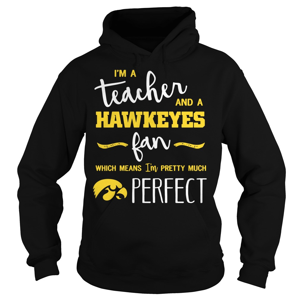I'm a teacher and a Hawkeyes fan which means I'm pretty much perfect Hoodie