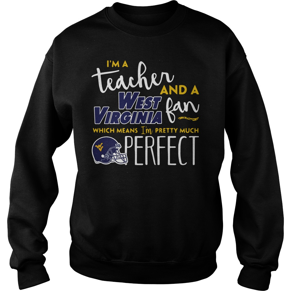 I'm a teacher and a West Virginia fan which means I'm pretty much perfect Hoodie