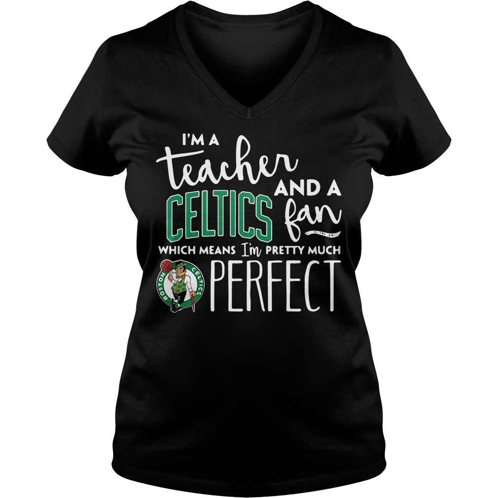 I'm a teacher and a Boston Celtics fan which means I'm pretty much perfect V-neck T-shirt