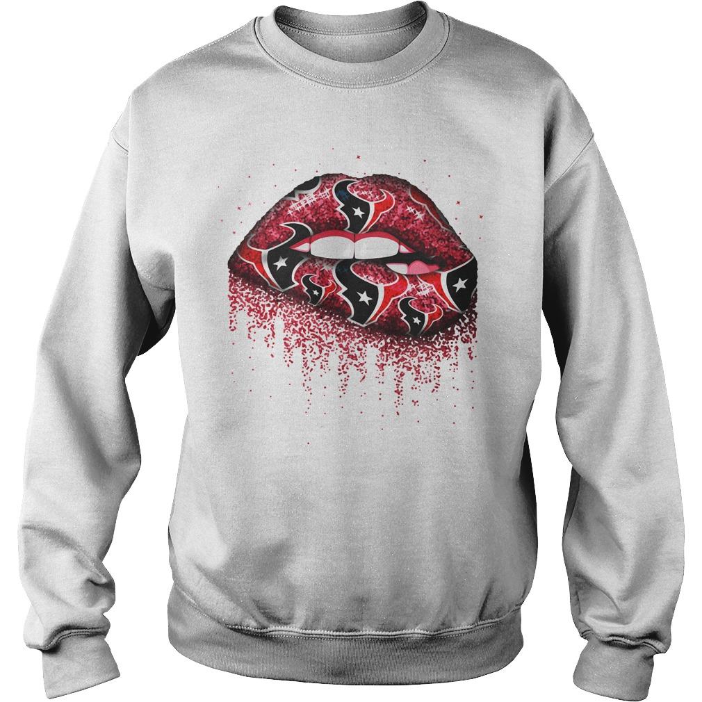 Love Houston Texans lips Sweater