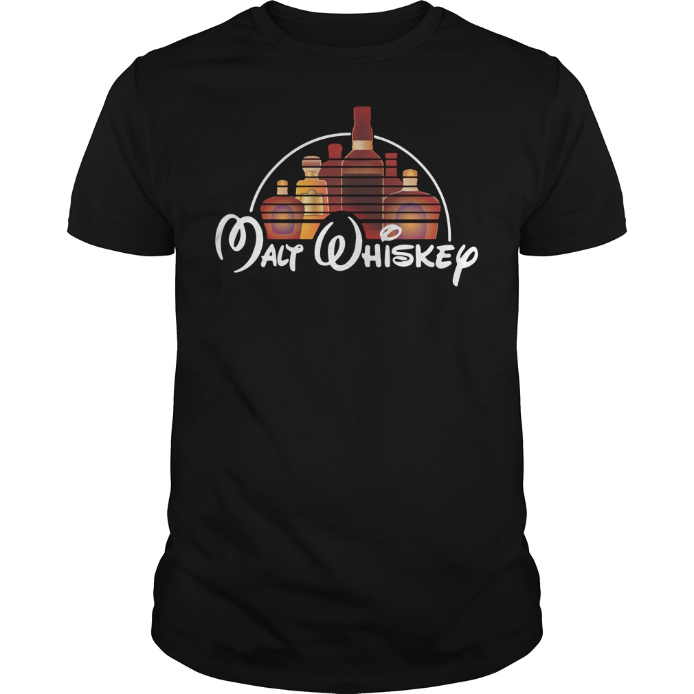 Malt Whiskey not Walt Disney Guys shirt