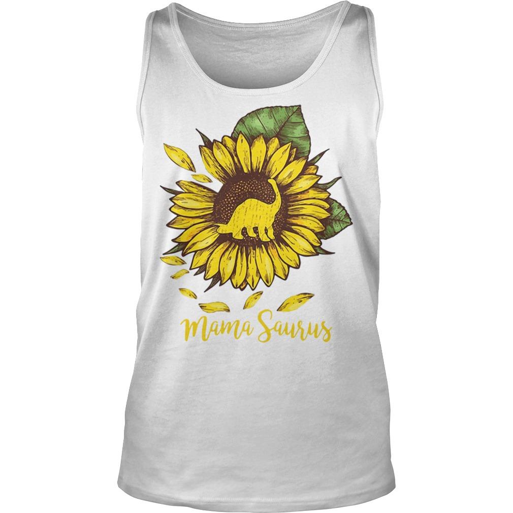 Mama saurus sunflower Tank top