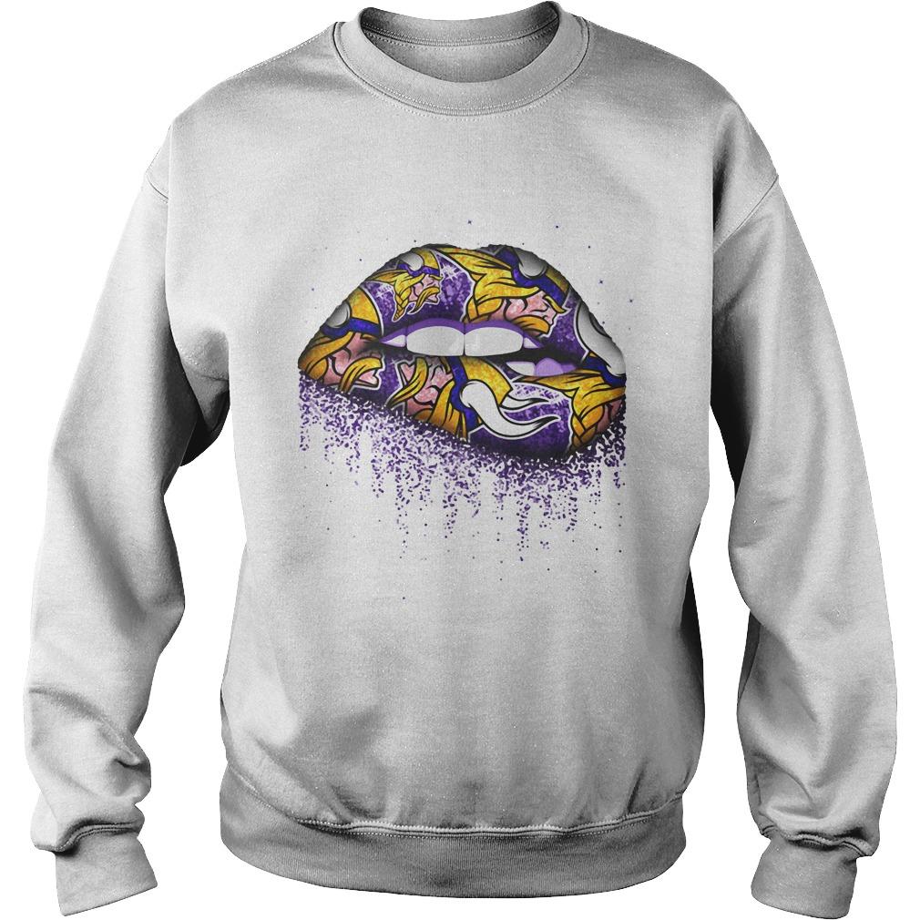 Minnesota Vikings lips Sweater