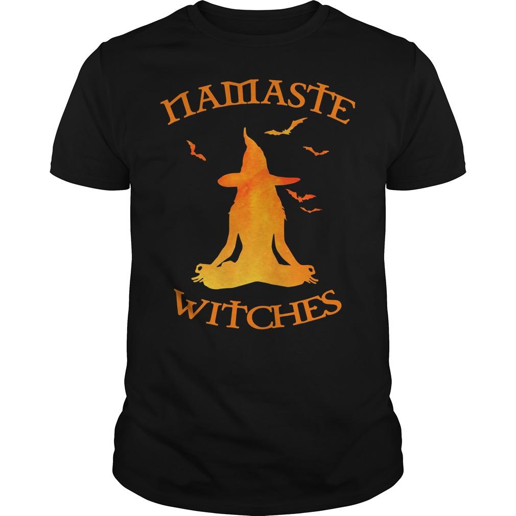 Namaste Yoga Witches Halloween gift Guys shirt