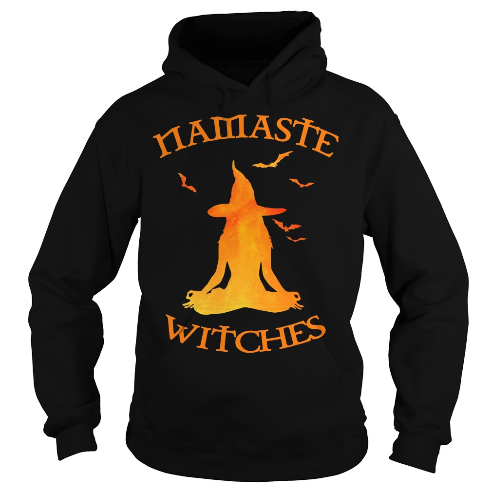 Namaste Yoga Witches Halloween gift Hoodie