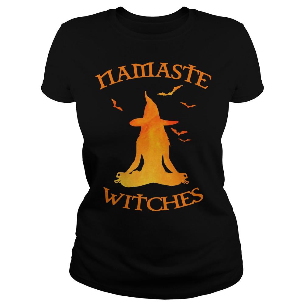 Namaste Yoga Witches Halloween gift Ladies tee