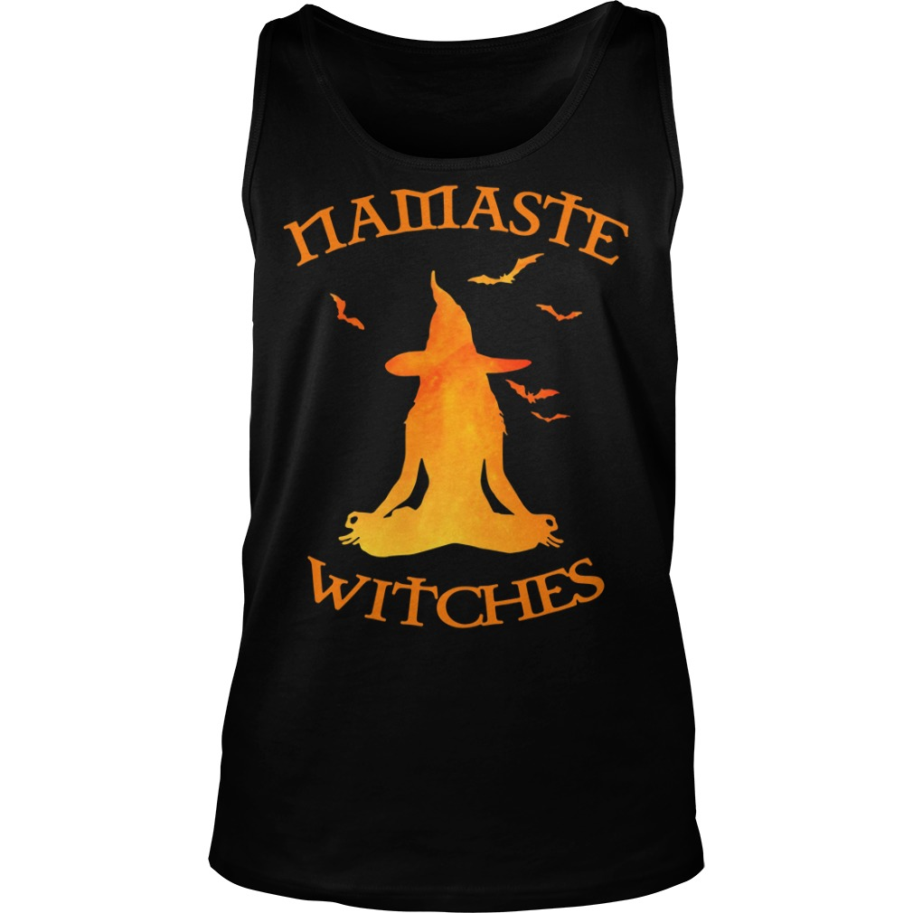 Namaste Yoga Witches Halloween gift Tank top