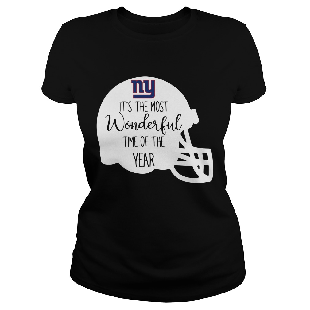 New York Giants it's the most wonderful time of the year Ladies tee