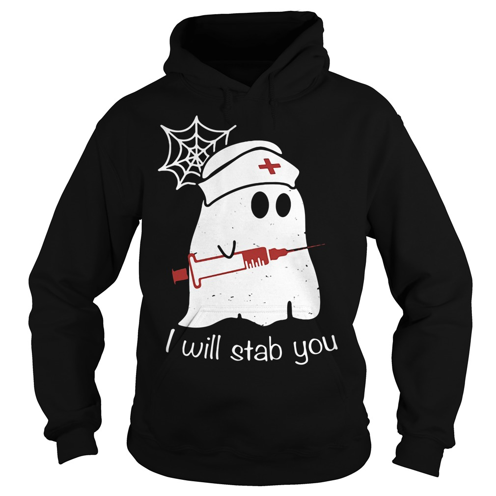 Nurse ghost I will stab you Hoodie