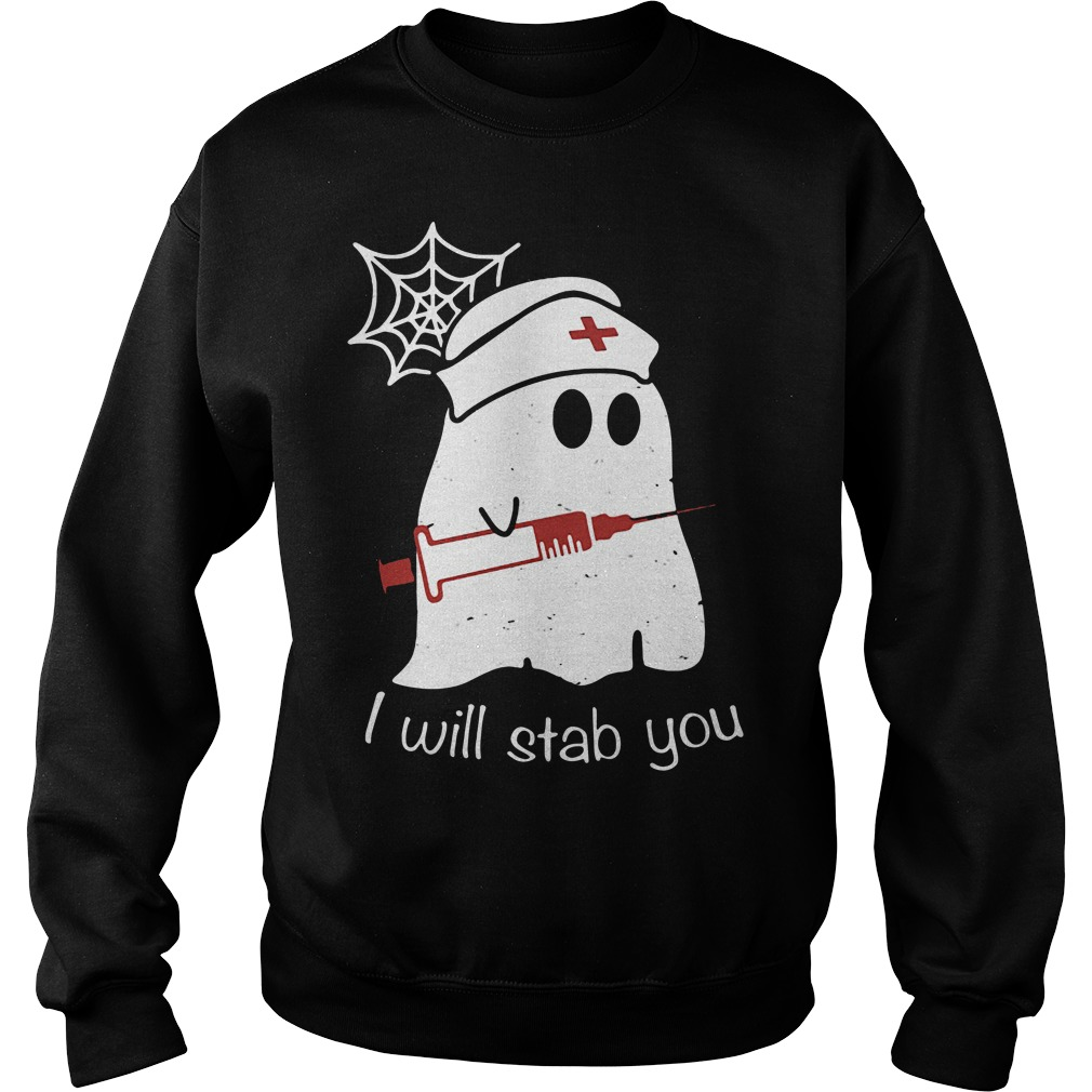 Nurse ghost I will stab you Sweater