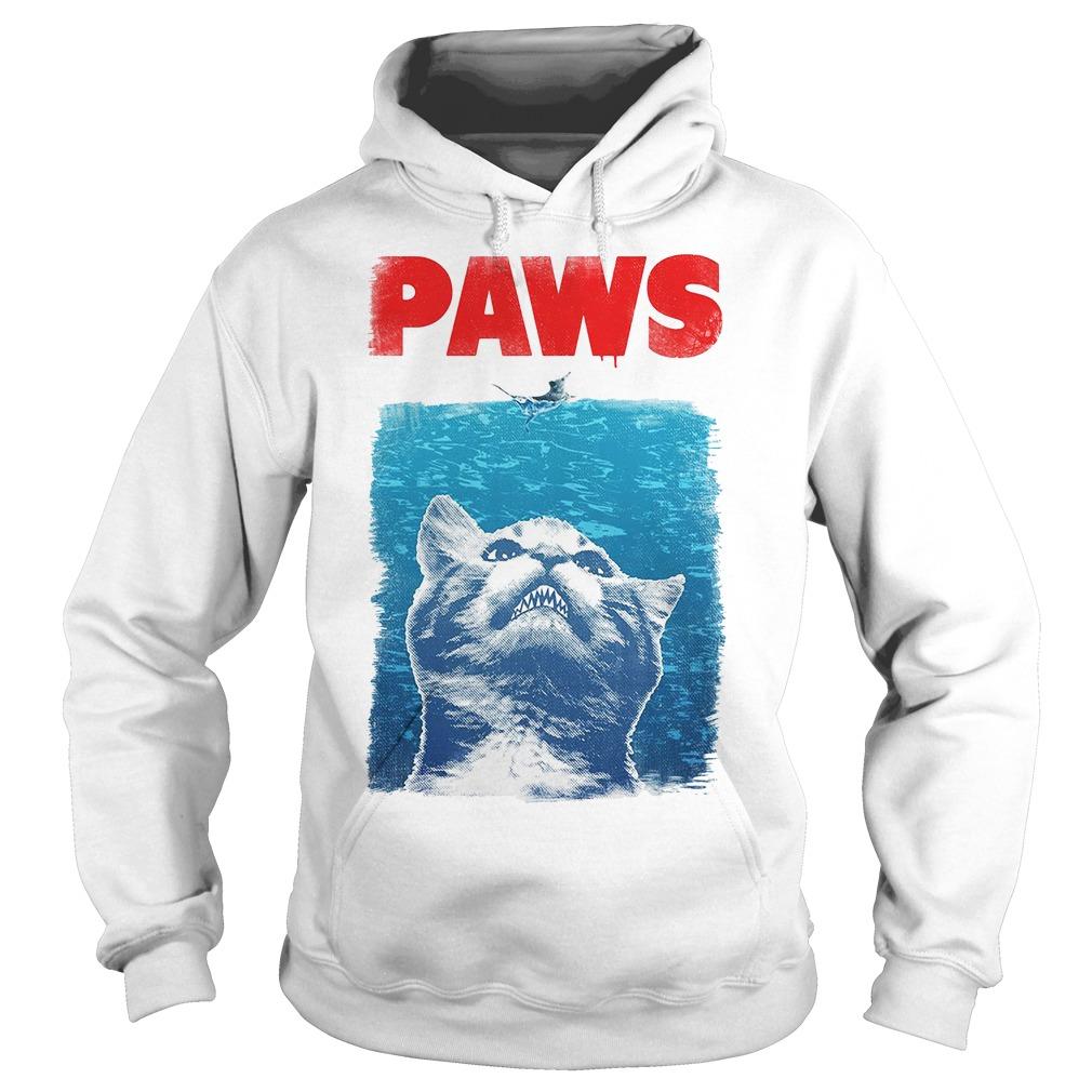 Paws Jaws Parody Racerback Hoodie
