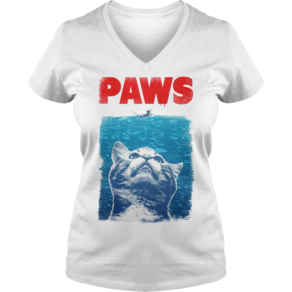 Paws Jaws Parody Racerback V-neck T-shirt