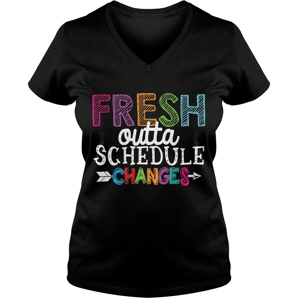 Premium Fresh outta schedule changes V-neck T-shirt