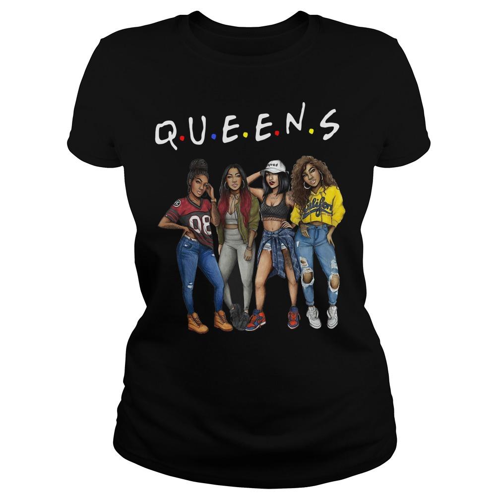 Queens Drawings Of Black Girls Best Friends Ladies tee