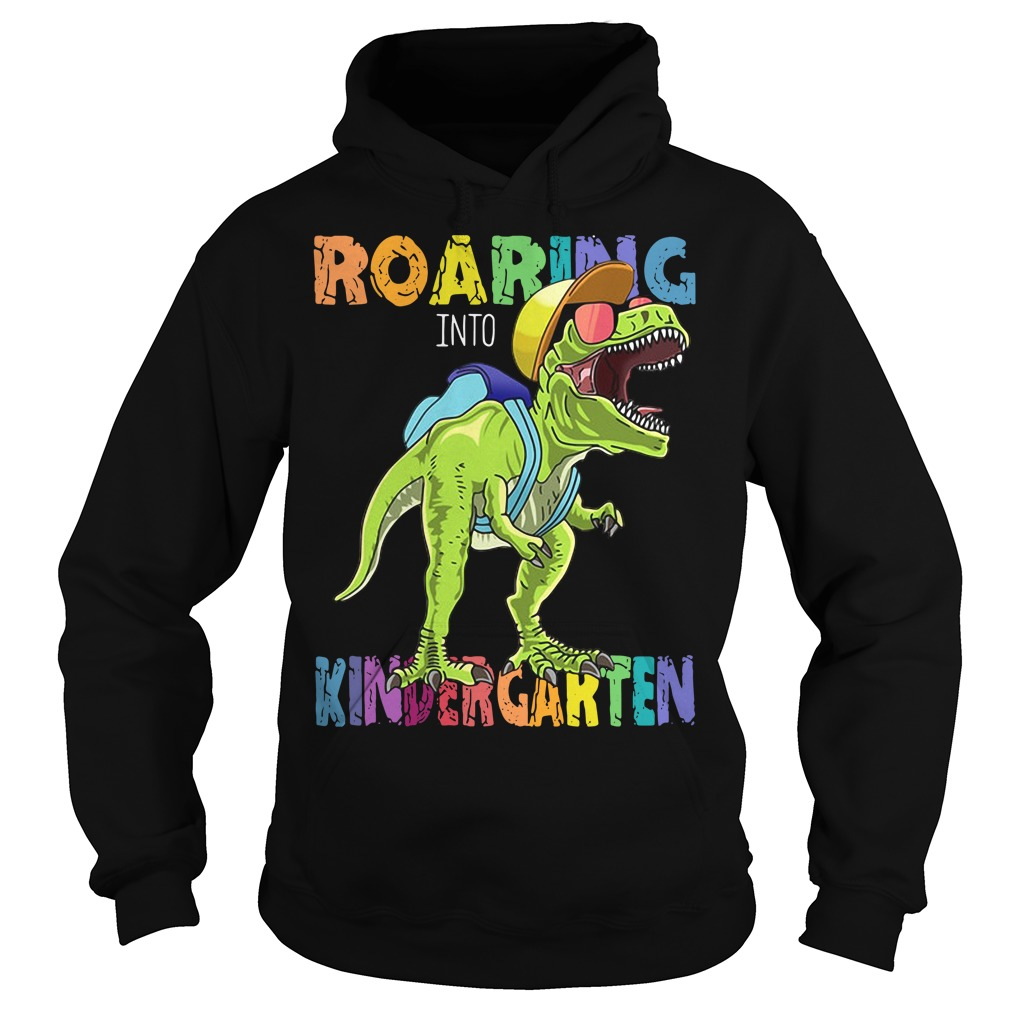 Roaring Into First Grade Dinosaur Back To School Hoodie