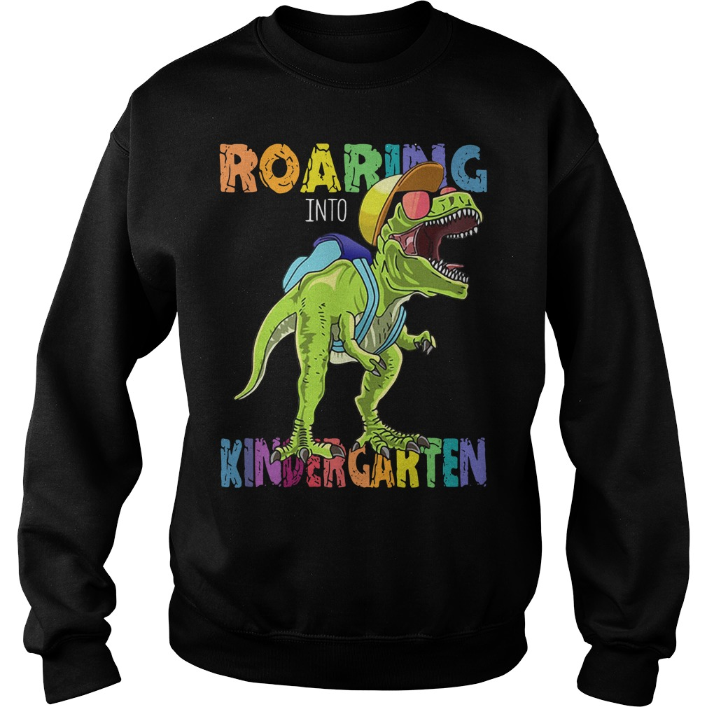 Roaring Into First Grade Dinosaur Back To School Sweater