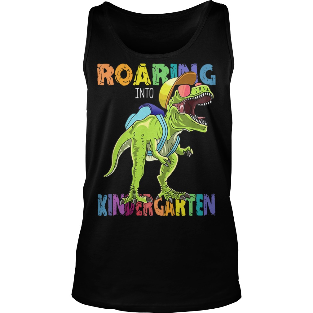 Roaring Kindergarten Dinosaur T Rex Back to School Tank top