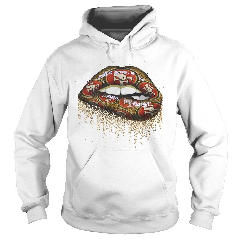 San Francisco 49ers lips Hoodie
