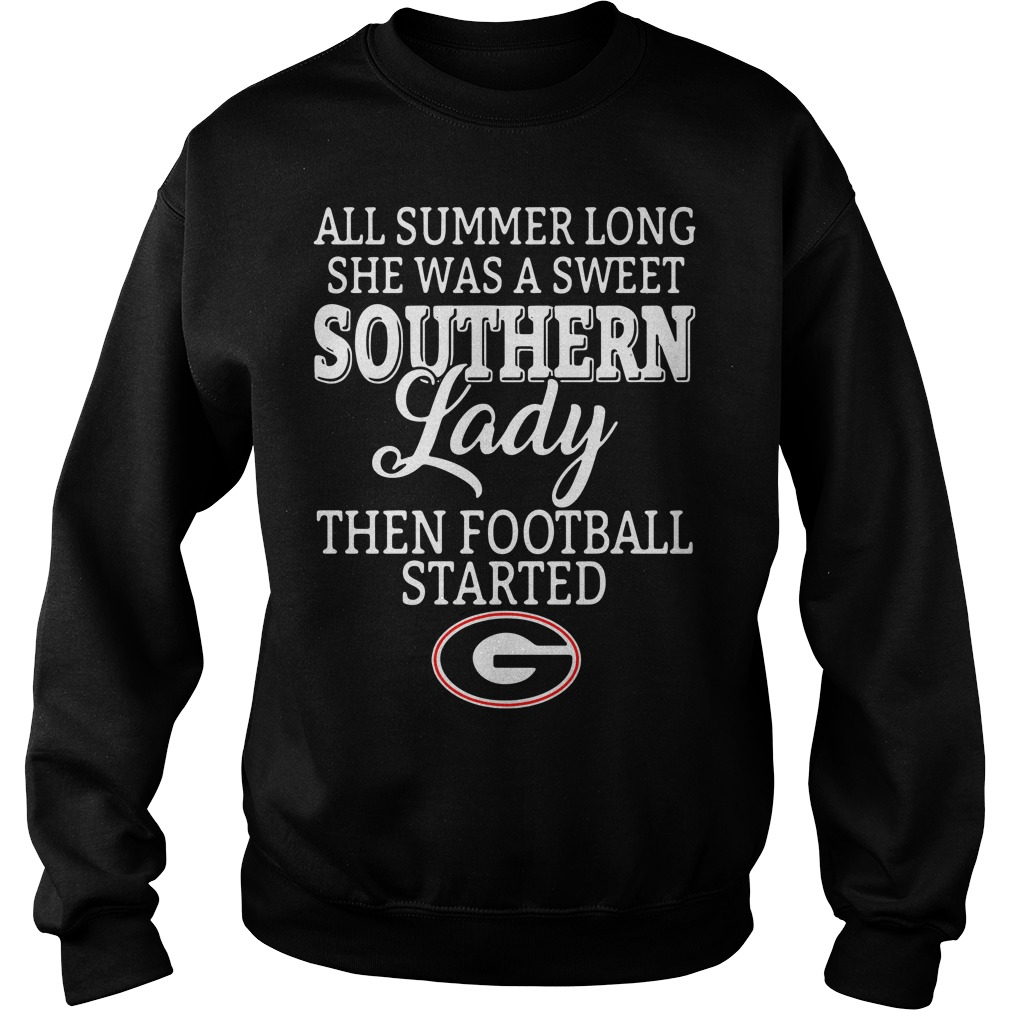 All summer long she was a sweet classy lady then football started Georgia Sweater