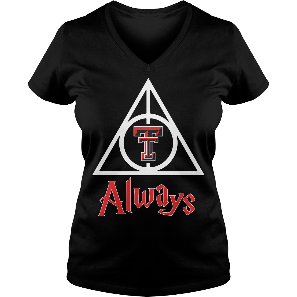 Texas Tech Red Raiders - Deathly Hallows V-neck T-shirt