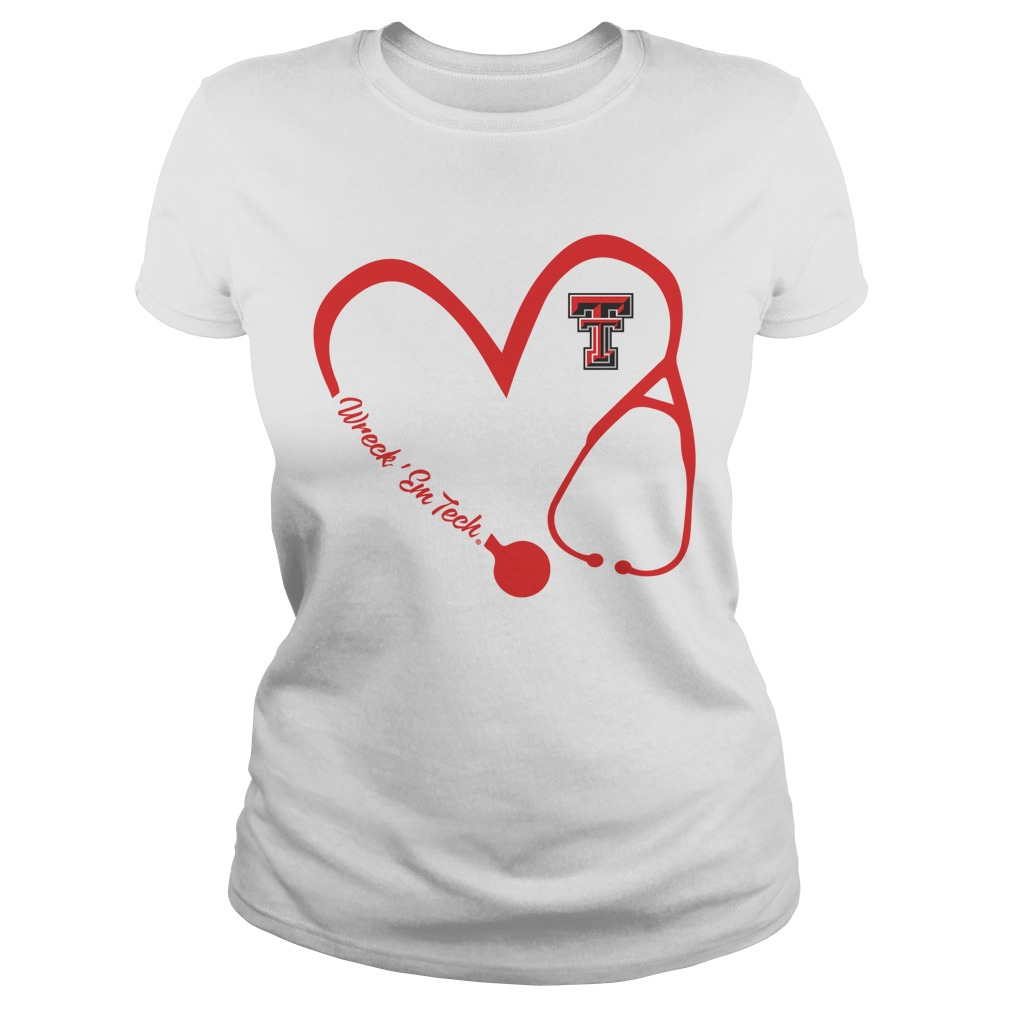 Texas Tech Red Raiders – Heart Ladies tee