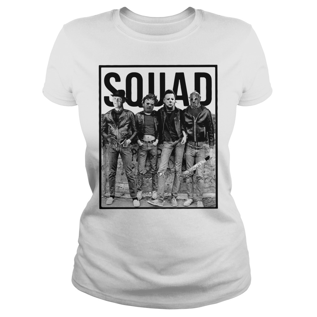 The Nightmare Ends On Halloween Squad Ladies tee