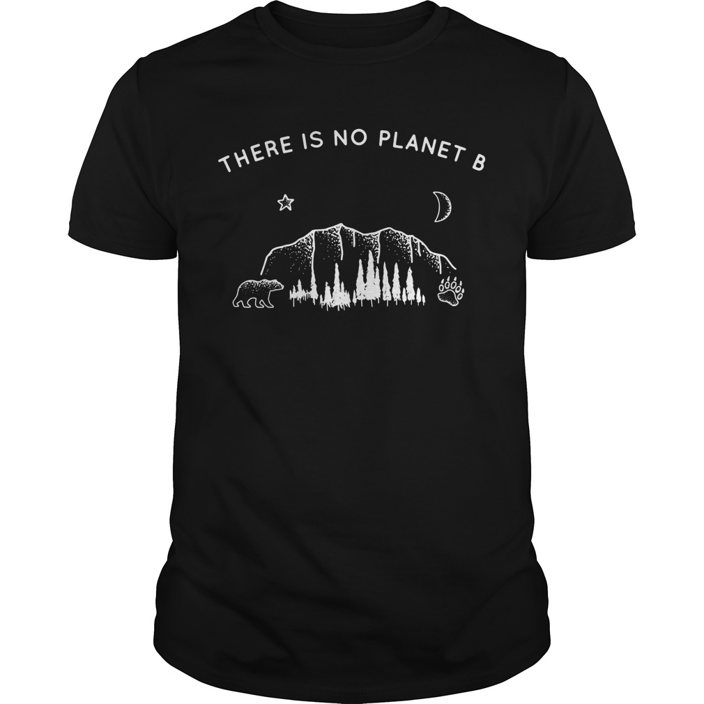 There is no planet B Bear Star Paw Moon Guys shirt