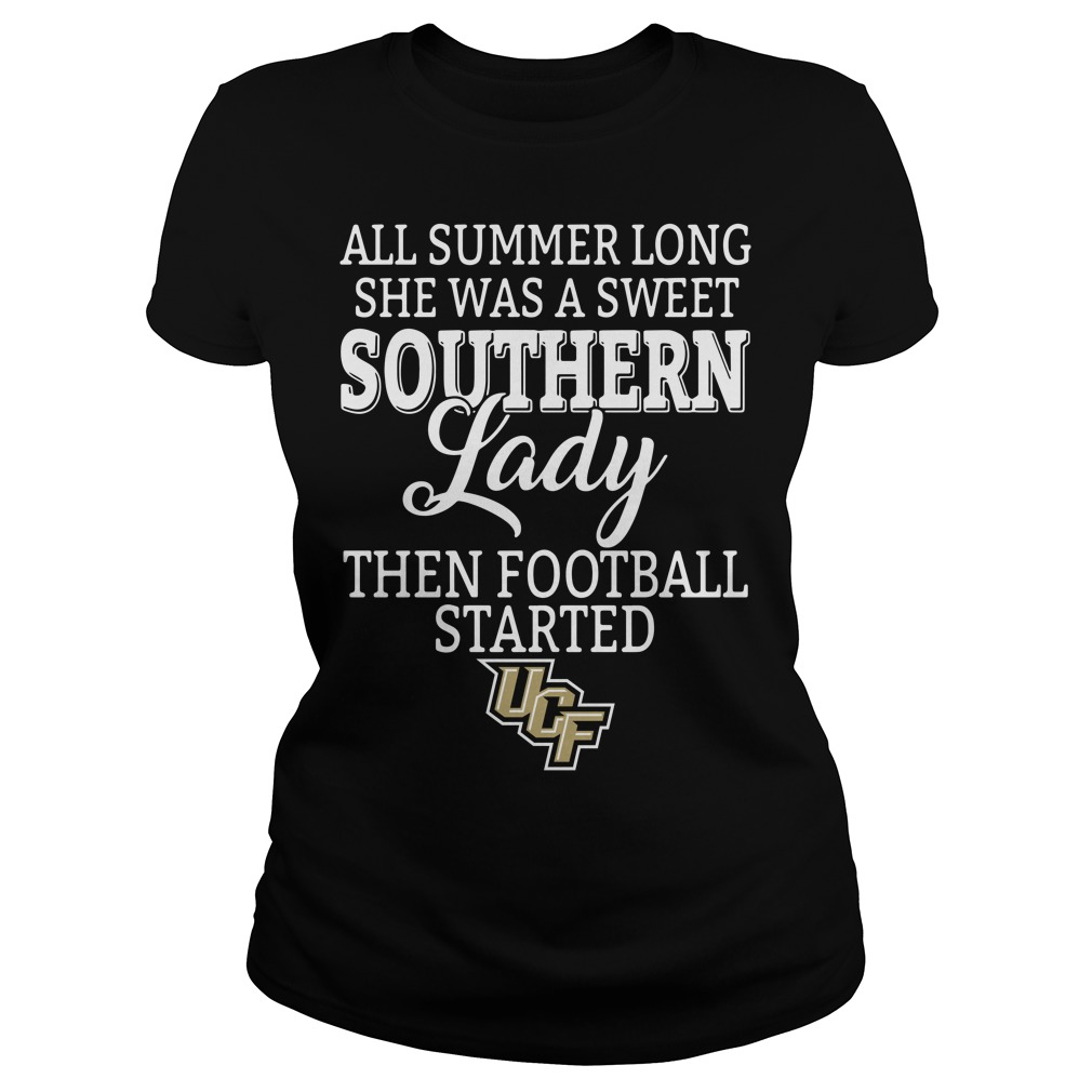 UCF Knights all summer long she was a sweet southern lady Ladies tee