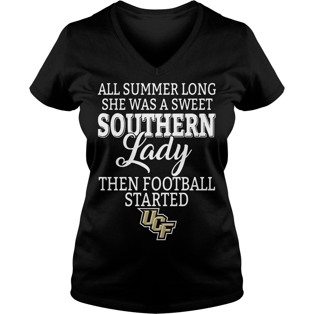 UCF Knights all summer long she was a sweet southern lady V-neck T-shirt