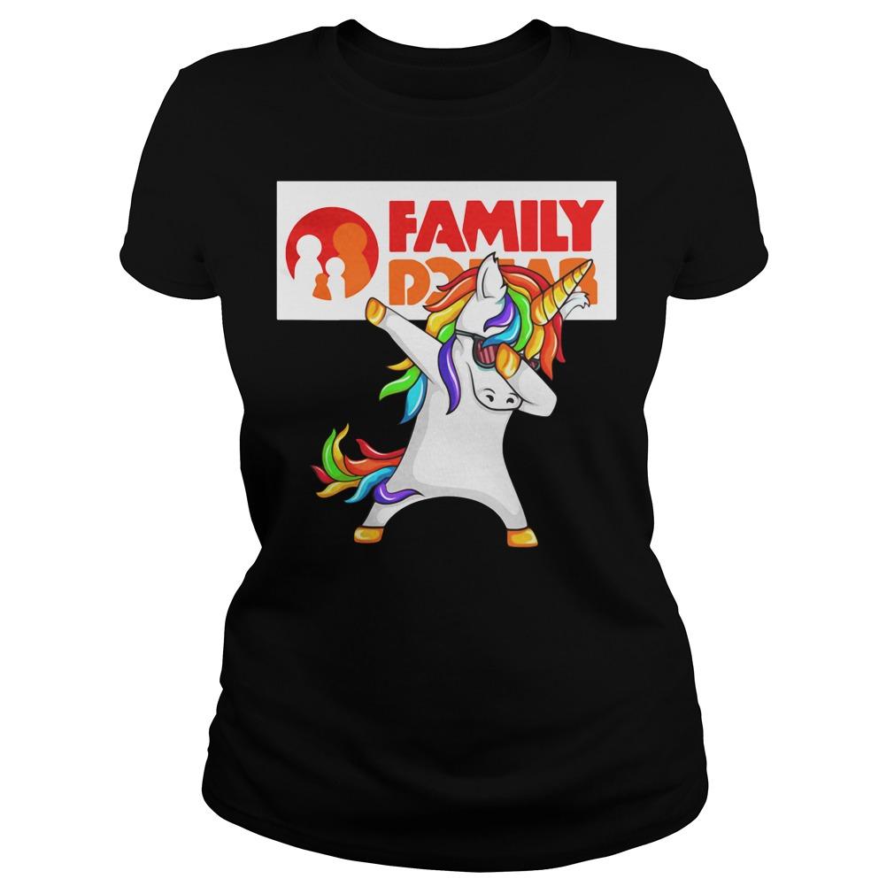 Unicorn FamilyDollar Ladies tee