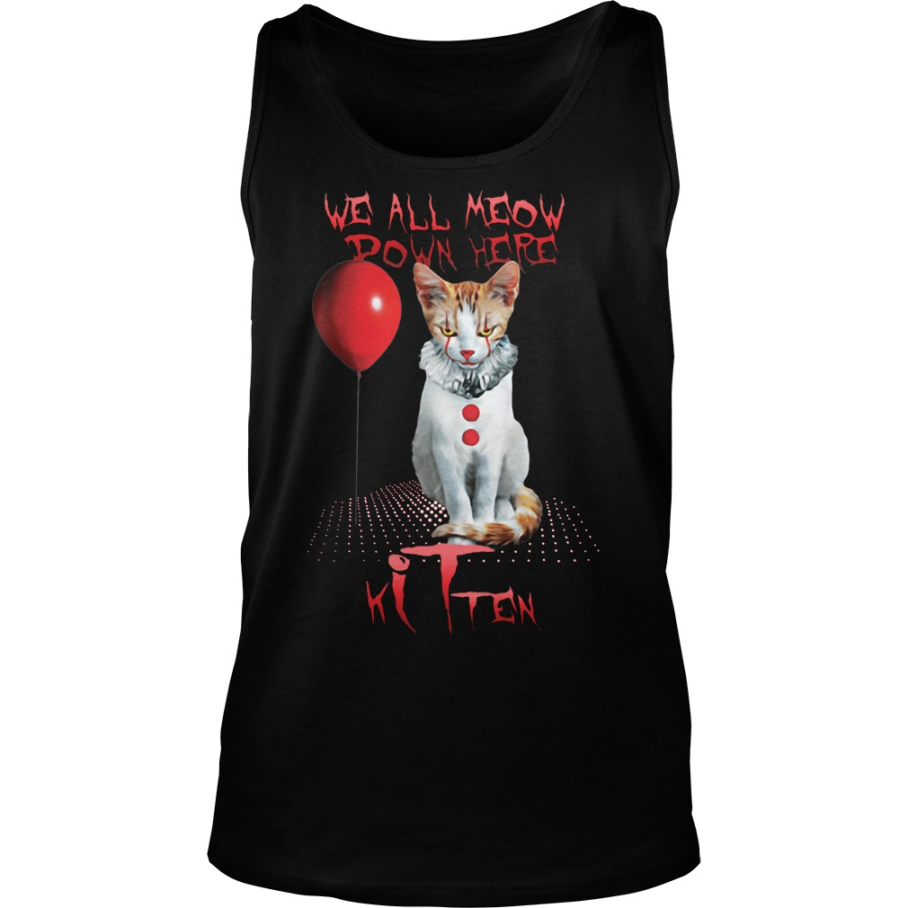 We all meow power here cat kitten Tank top