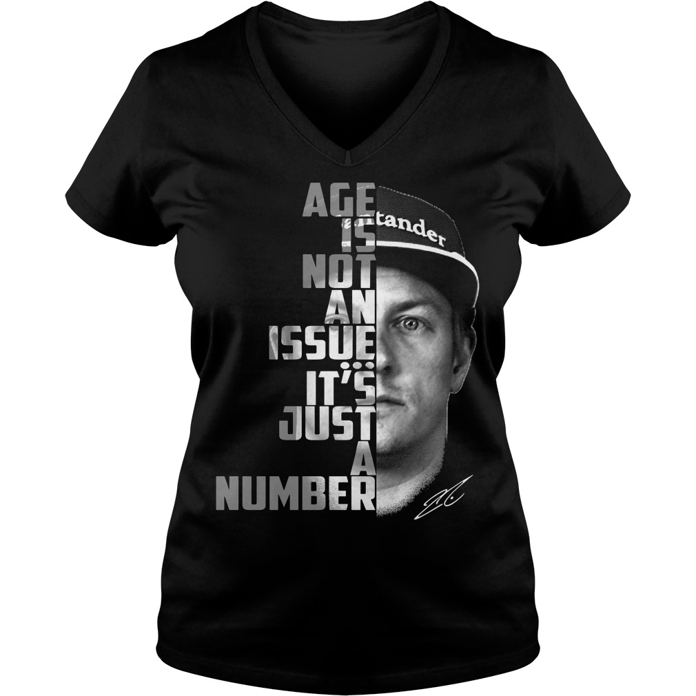 Age is not an issue it's just a number V-neck T-shirt