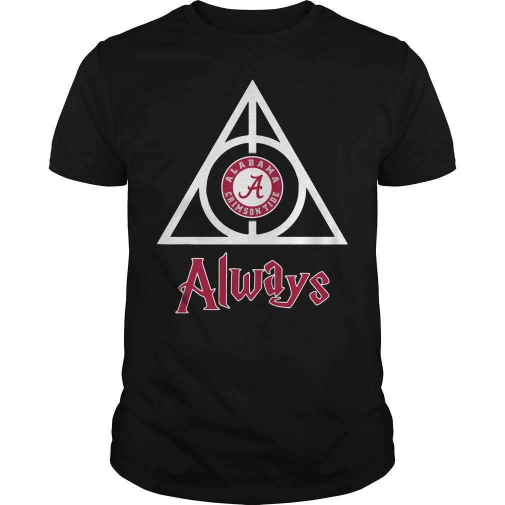 Alabama Crimson Tide Deathly Hallows Always Guys shirt
