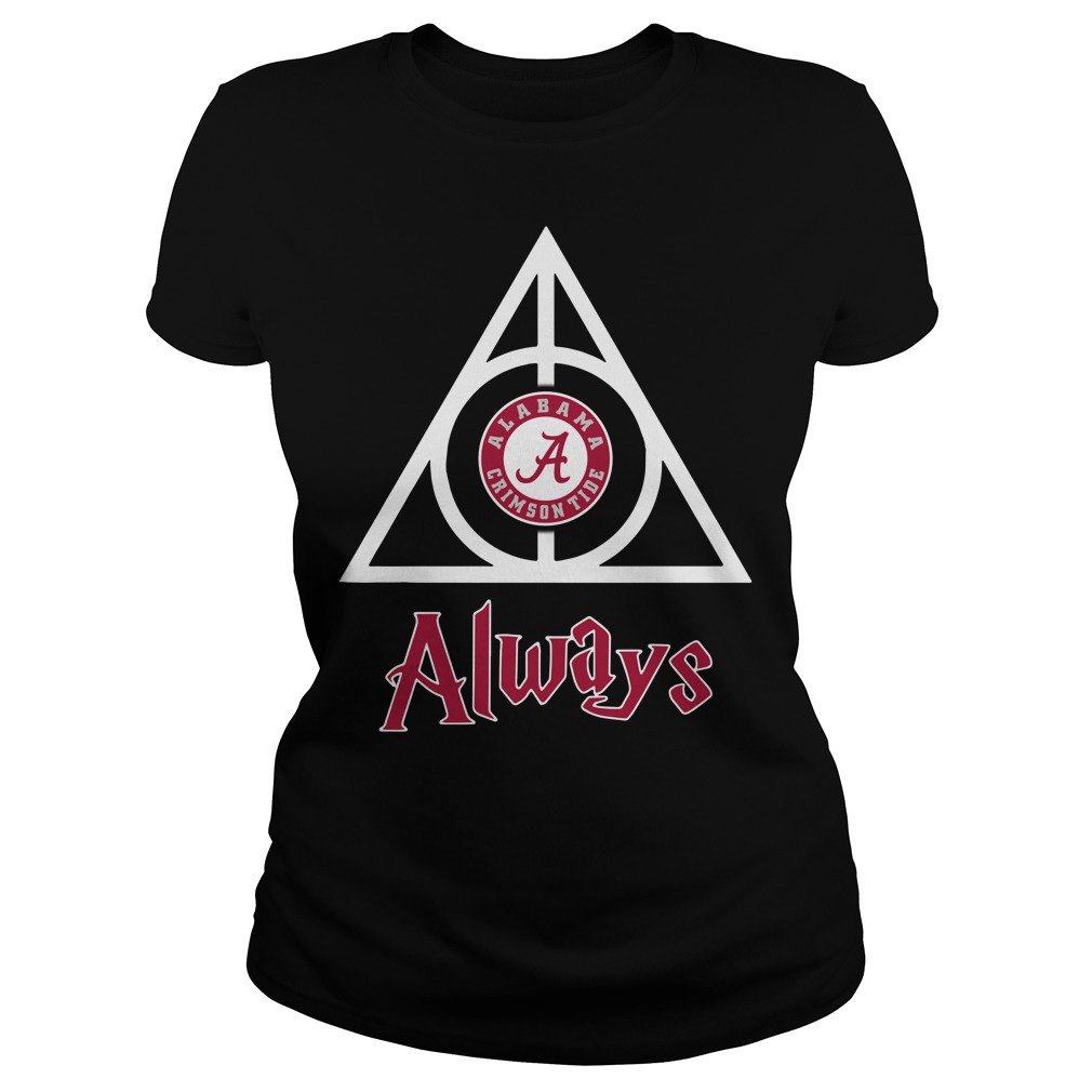 Alabama Crimson Tide Deathly Hallows Always Ladies tee