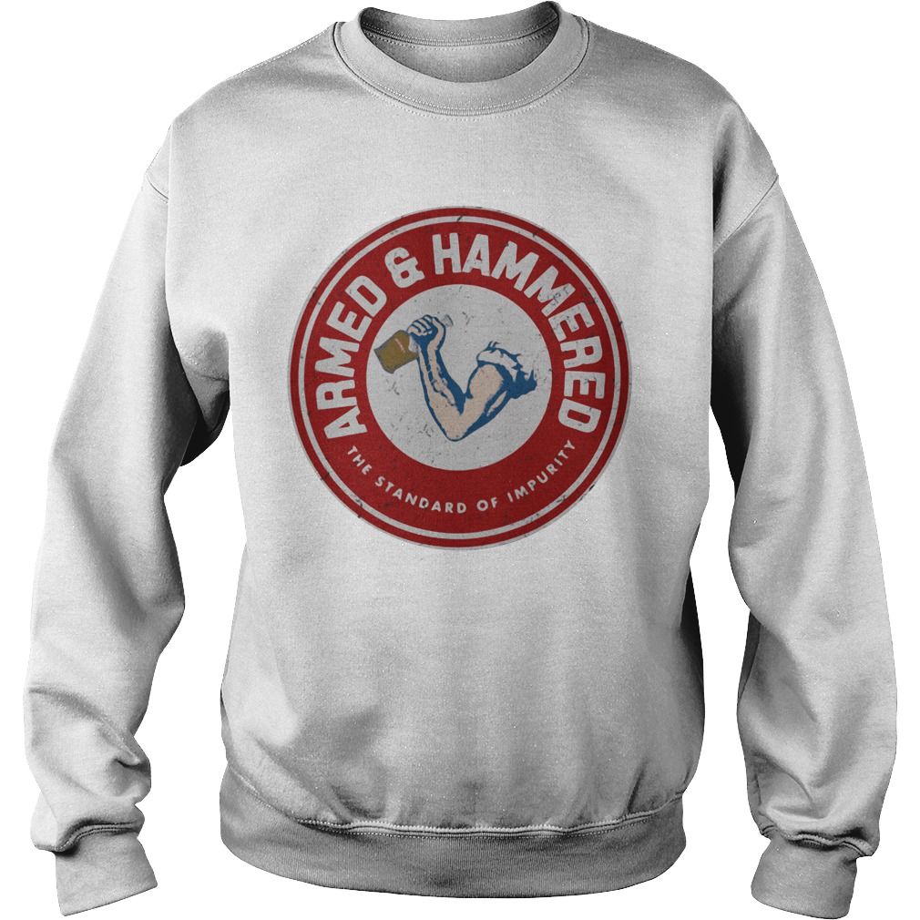 Amer and hammered the standard of impurity Sweater