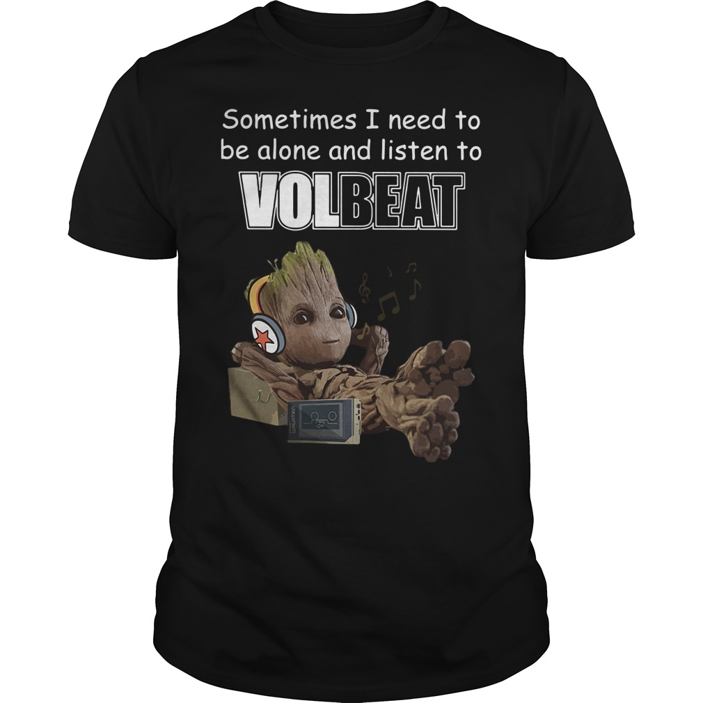 Baby Groot sometimes I need to be alone and listen to Linkin Park Guys shirt