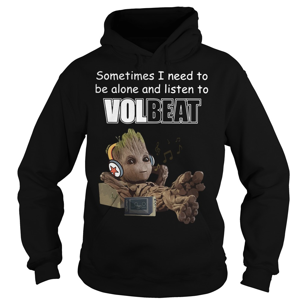 Baby Groot sometimes I need to be alone and listen to Linkin Park Hoodie