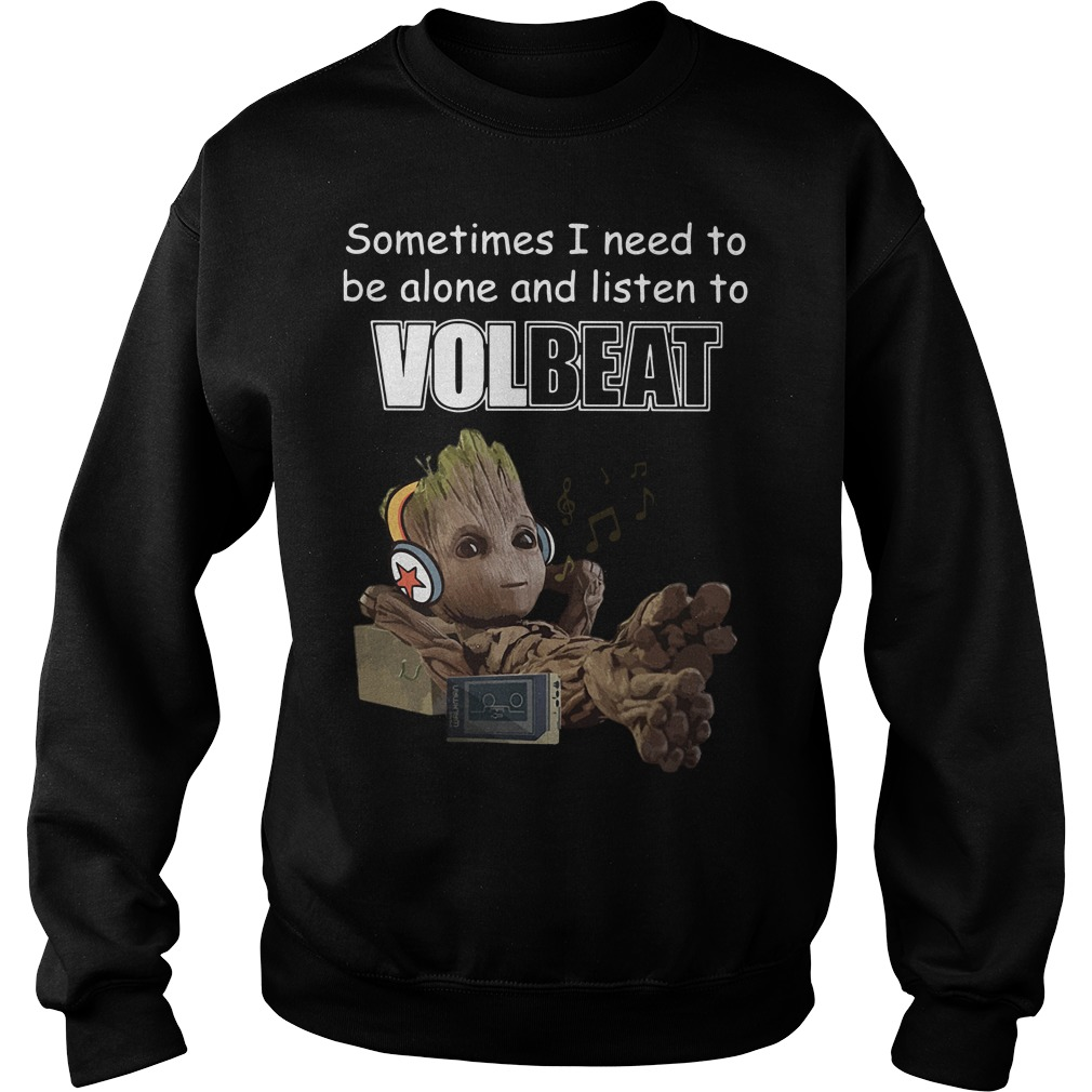 Baby Groot sometimes I need to be alone and listen to Linkin Park Sweater