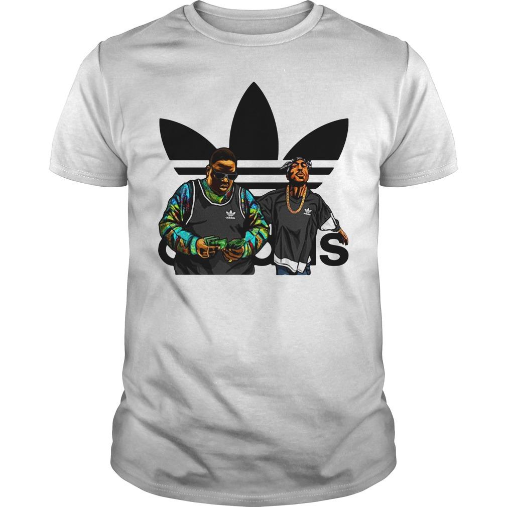 Biggie and Tupac adidas Guys shirt