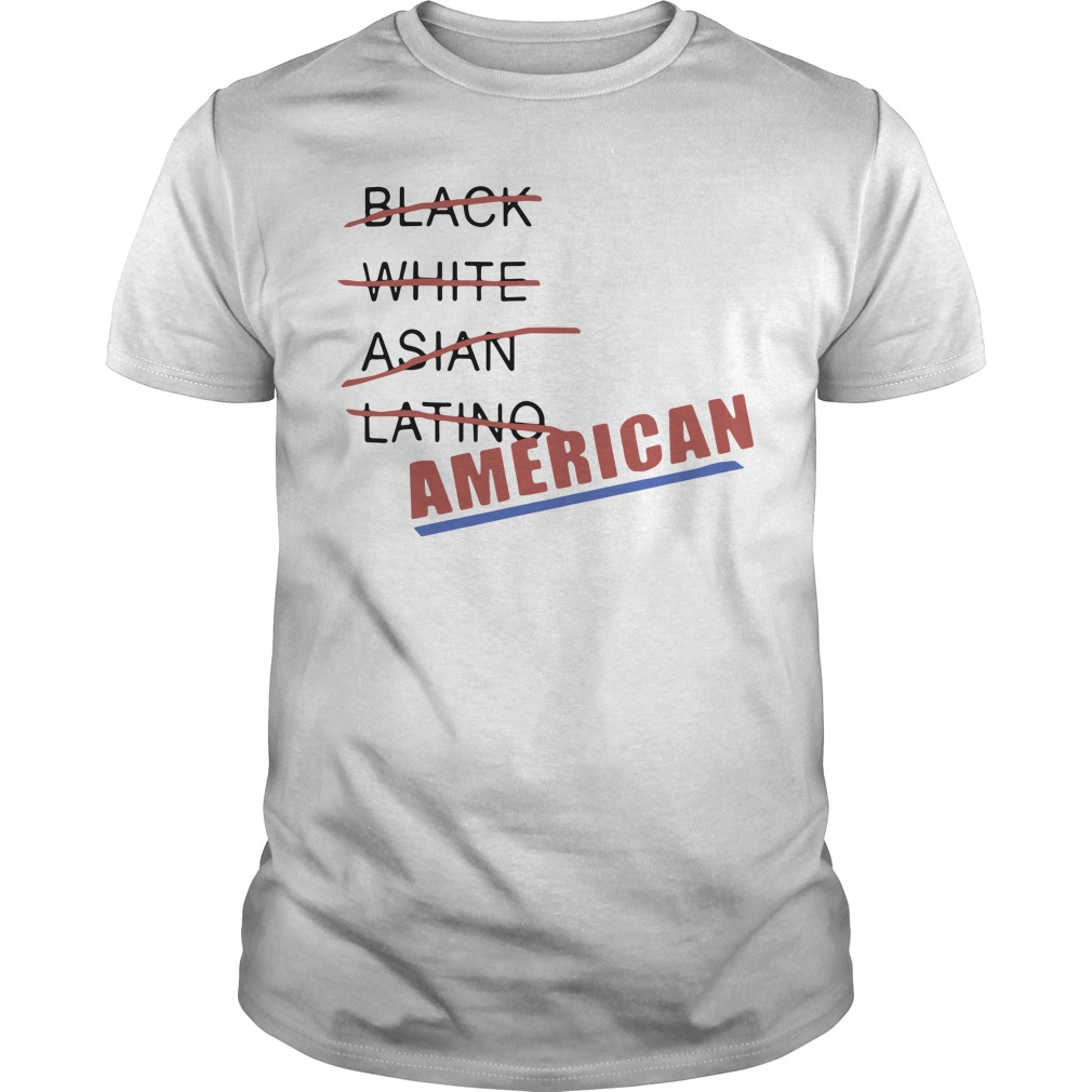 Black White Asian Latino American Guys shirt